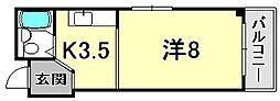 IN神戸[9階]の間取り
