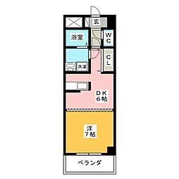 ルミエール青山8[7階]の間取り