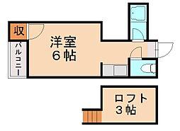 ソフィー21福大前[1階]の間取り