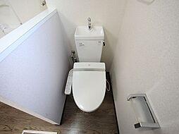 フラット矢田南の温水洗浄暖房便座付トイレ