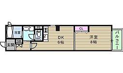 アニマーレ上本町[2階]の間取り