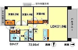 リラフォート千里中央[3階]の間取り