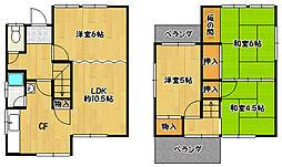 [一戸建] 兵庫県神戸市北区鈴蘭台北町7丁目 の賃貸【/】の間取り