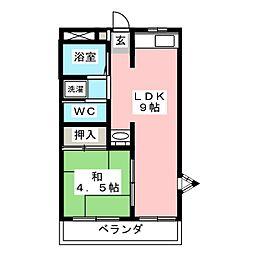 ハピネススズキ[2階]の間取り