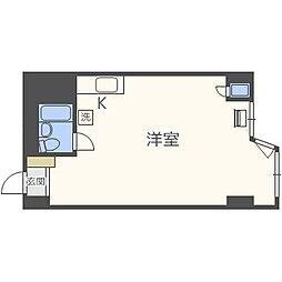 北海道札幌市中央区南九条西3丁目の賃貸マンションの間取り