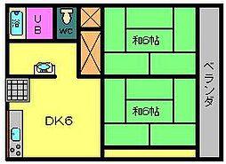 コスモコーポ[2階]の間取り