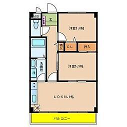 スーリールI番館[4階]の間取り