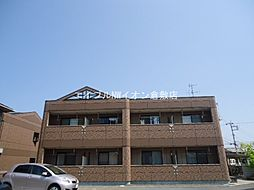 岡山県倉敷市西阿知町の賃貸アパートの外観