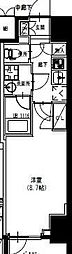 S-RESIDENCE曳舟 11階1Kの間取り