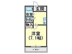 中井マンション[5階]の間取り