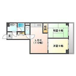 川崎セントラルコーポ[3階]の間取り