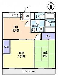 コーポ菅野[3階]の間取り
