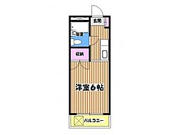 東京都八王子市片倉町の賃貸マンションの間取り