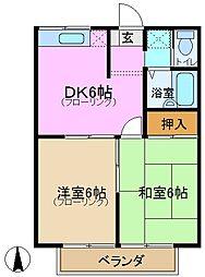 レジデンス城田2[2階]の間取り