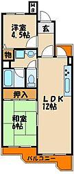 ハッピーコート大蔵谷駅前[3階]の間取り