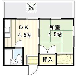 橋本荘[102号室号室]の間取り