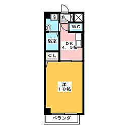 メゾン田代本通[2階]の間取り