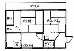 [一戸建] 東京都福生市大字福生 の賃貸【東京都 / 福生市】の間取り