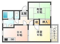 兵庫県神戸市垂水区西脇1丁目の賃貸アパートの間取り