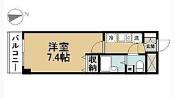 コンフォルト吉田[203号室]の間取り