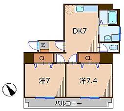 東照第2ビル[402号室]の間取り