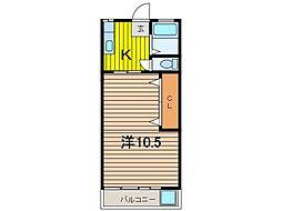松ヶ丘マンション[203号室]の間取り