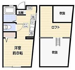 東京都世田谷区南烏山2丁目の賃貸アパートの間取り