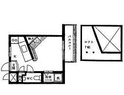 ロワール新山下[2階]の間取り