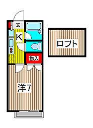 南浦和ヒルズII[2階]の間取り