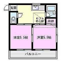 T&K新大津[203号室]の間取り
