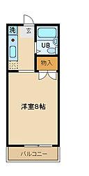 エクレール山王[105号室]の間取り