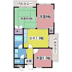 十三番館[2階]の間取り