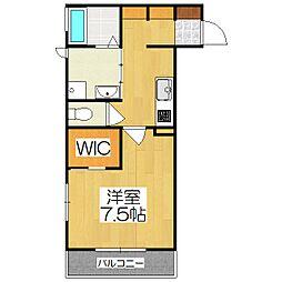 JR奈良線 JR藤森駅 徒歩7分の賃貸アパート 1階1Kの間取り