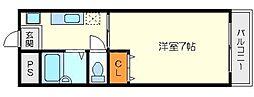 アパートメント瀬里奈[1階]の間取り
