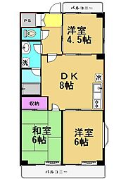 アーバンハイツ仙川[2階]の間取り