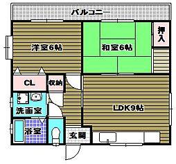 喜多サンライズ[3階]の間取り
