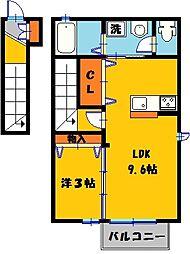 サニーフラット E[2階]の間取り