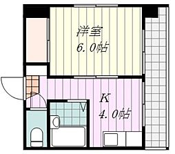 コーラルガーデン山越[2階]の間取り
