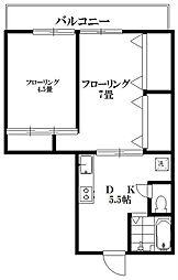サンハニー駒沢[301号室]の間取り