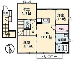 サン・フェリーチェ 3棟[C202号室]の間取り