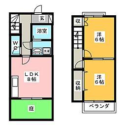 [テラスハウス] 岐阜県岐阜市野一色6丁目 の賃貸【/】の間取り
