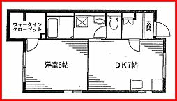 東京都文京区本郷5丁目の賃貸アパートの間取り