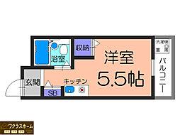 大阪府堺市堺区市之町東4丁の賃貸マンションの間取り