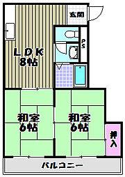 下川マンション[3階]の間取り