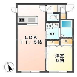 北海道札幌市東区北二十五条東14の賃貸マンションの間取り