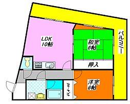 パークサイド・シャトー 305号室[3階]の間取り