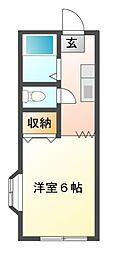 ハイツサトーピア[1階]の間取り
