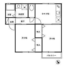VERY HOUSE[1階]の間取り