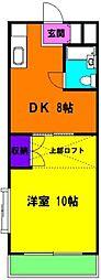 静岡県浜松市東区西塚町の賃貸マンションの間取り