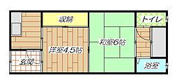 [テラスハウス] 大阪府東大阪市御厨栄町2丁目 の賃貸【大阪府 / 東大阪市】の間取り
